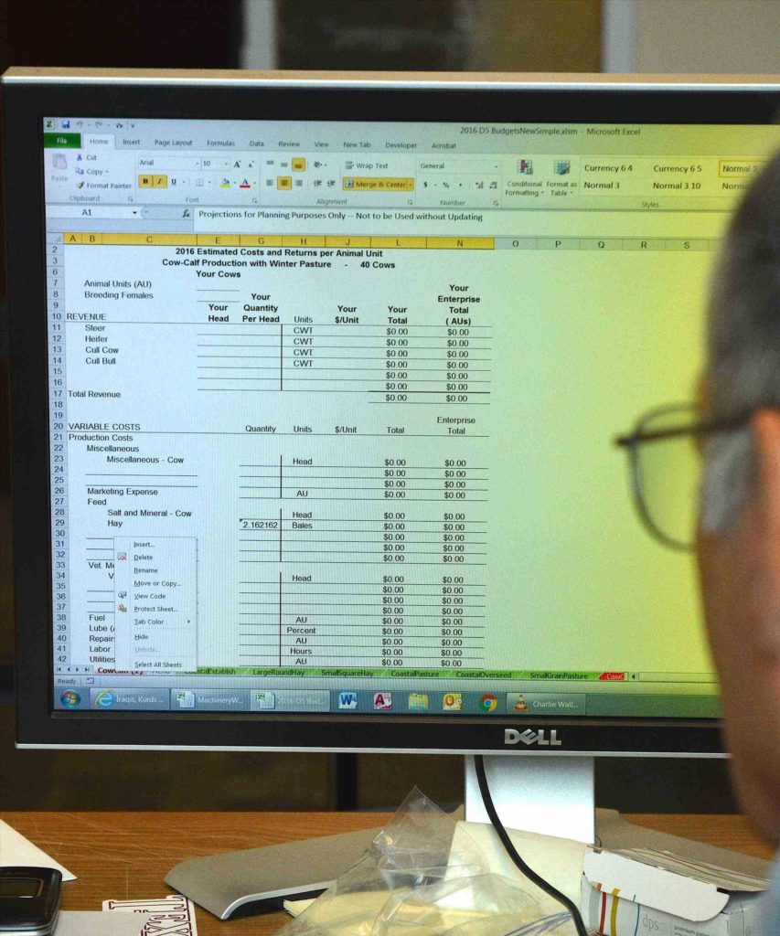 Food Cost Analysis Spreadsheet and Cattle Inventory Spreadsheet Teerve Sheet