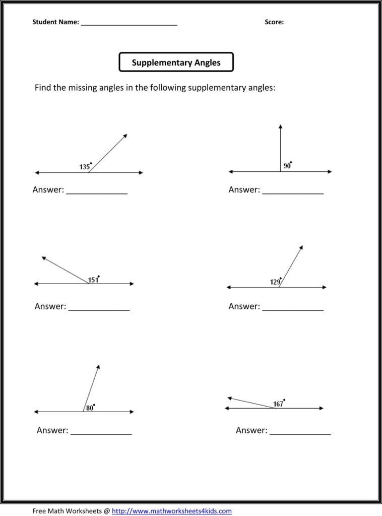 Free Algebra Worksheets for High School and Supplementary Angles Classroom Madness Pinterest Math