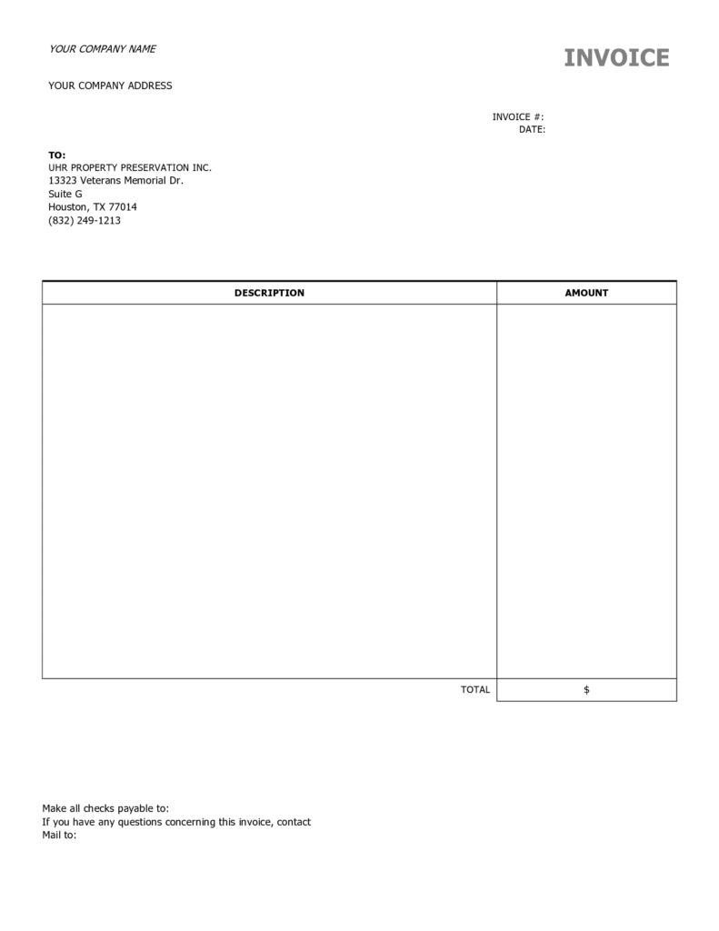 Free Downloadable Invoice Template Word and Blank Invoice Template Uk Free Rabitah