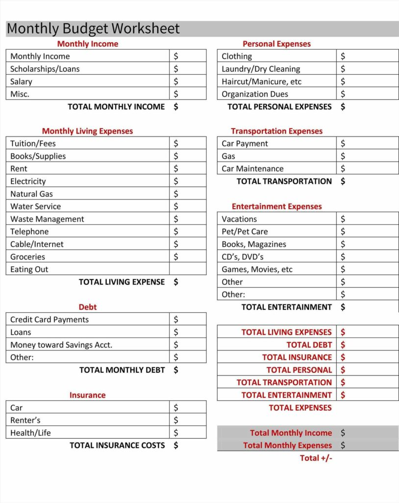 Free Home Budget Spreadsheet and Bud Spreadsheet Household Bud Planner Ukhouseholdhome Plans