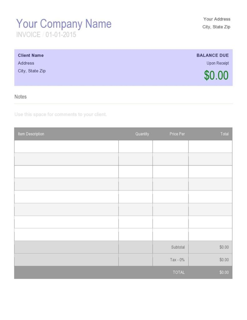 Free Online Invoice Creator Template and Free Online Invoice Creator Template Invoice Template Ideas