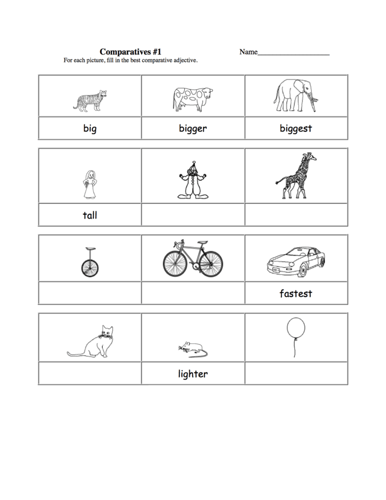 Free Printable Preschool Worksheets Age 4 and Worksheets for 5 Years Old Kids Activity Shelter
