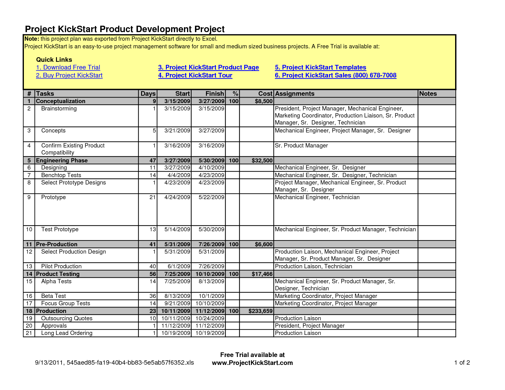 Free Project Schedule Template Excel and Project Schedule Excel Template Free Task Tracking