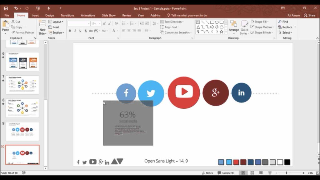Free social Media Report Template and Making social Media Report On Powerpoint Youtube