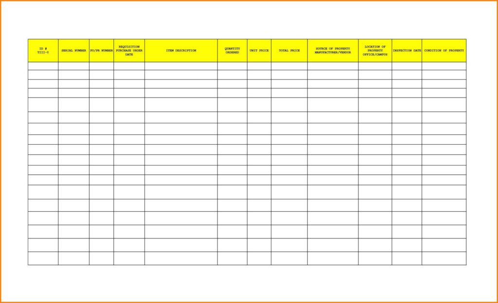 Furniture Inventory Spreadsheet and Furniture Inventory Spreadsheet Empeve Spreadsheet Templates