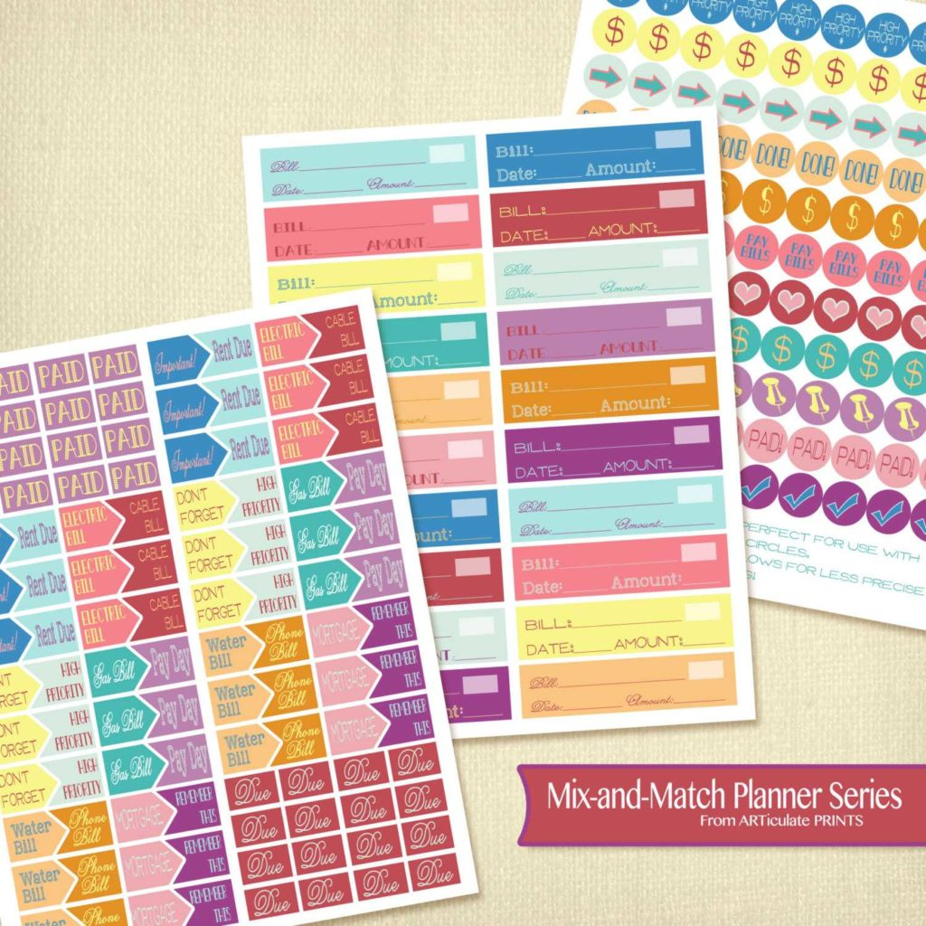 Home Finance Bill organizer Template and Bud Ing Printable Planner Stickers Finance Edition Planner
