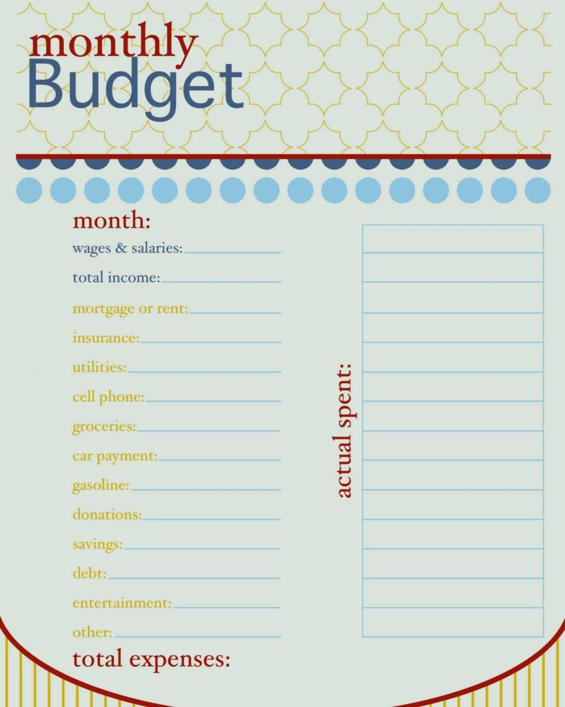 Home Finance Bill organizer Template and How to Live On A Bud Monthly Bud Free Printable and Bullet