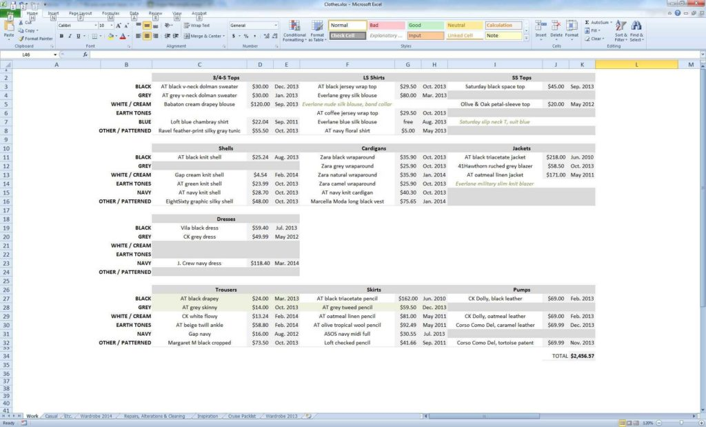 Hotel Inventory Spreadsheet and Inventory Spreadsheet for Clothing Cehaer Spreadsheet