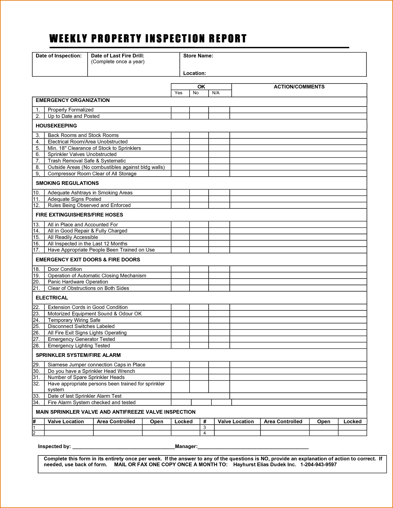 House Inspection Report Template and 8 Inspection Report Template Printable Receipt