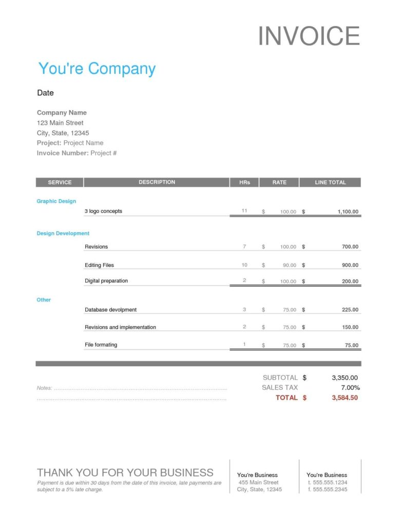 Interest Invoice Template and Graphic Design Freelance Invoice Invoice Template Ideas