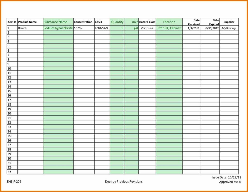 Inventory List Spreadsheet and Restaurant Inventory Spreadsheet Template Inventory Spreadsheet
