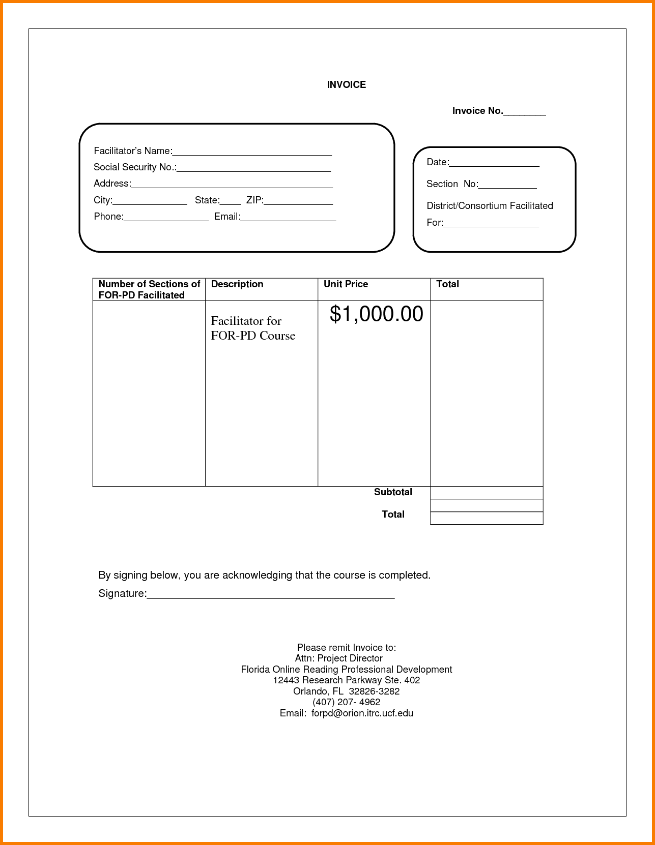 Invoice and Receipt Template and 5 Blank Invoice Template Pdf Receipt Templates