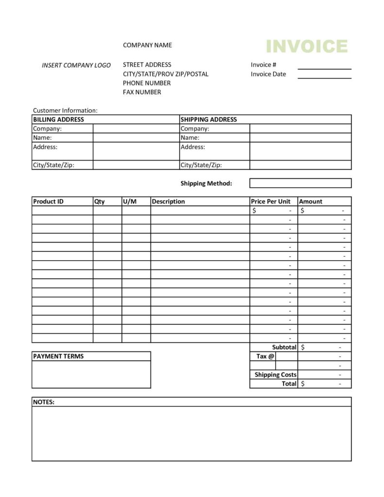 Invoice for Payment Template and Free Excel Invoice Templates Smartsheet Firmsinjafo