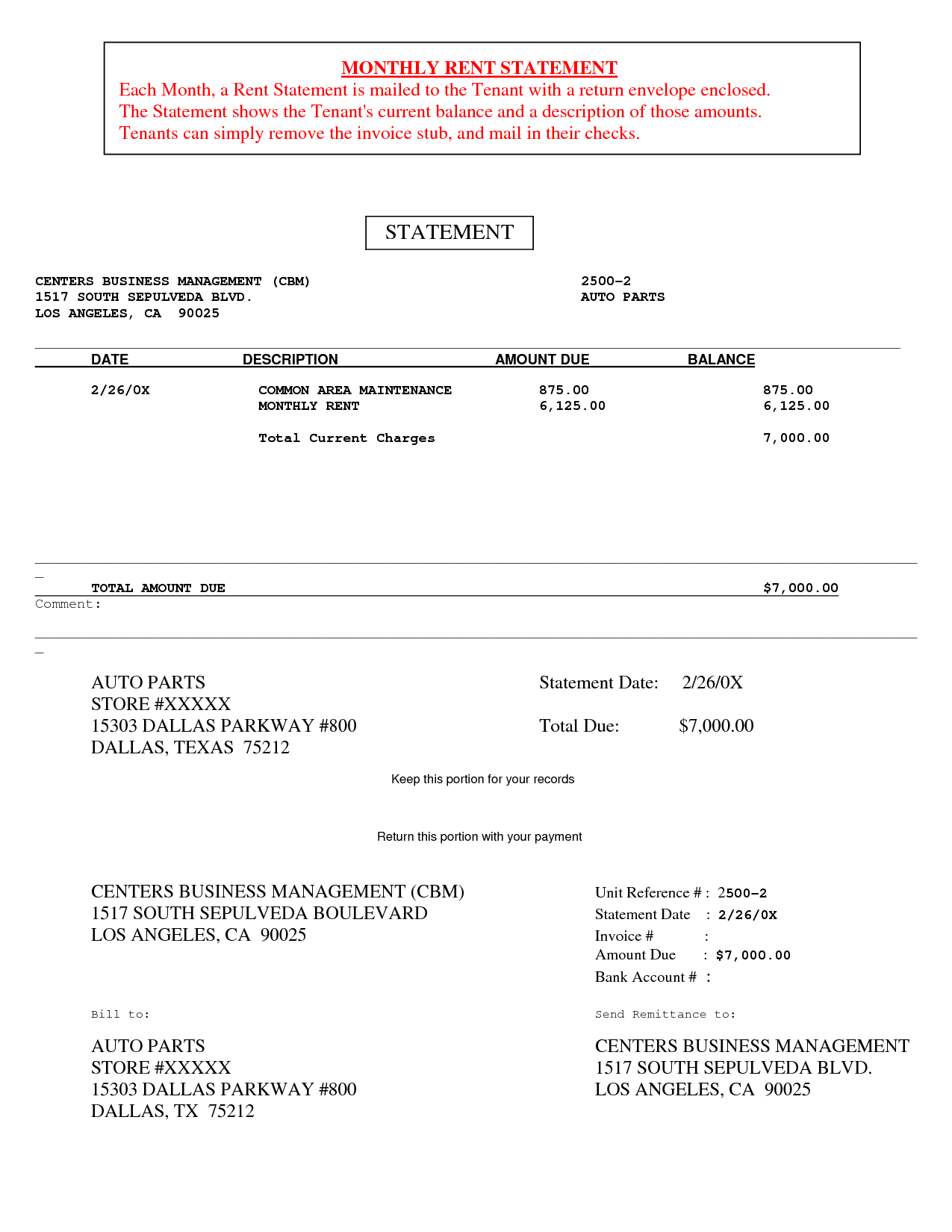 Invoice Statement Template Free and Rent Invoice form Rabitah