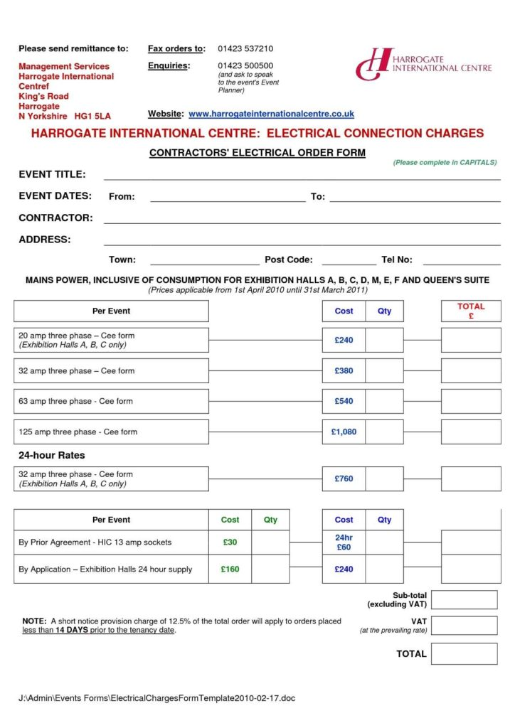Invoice Template for Contractors and 13 Free Electrical Invoice Templates Demplates
