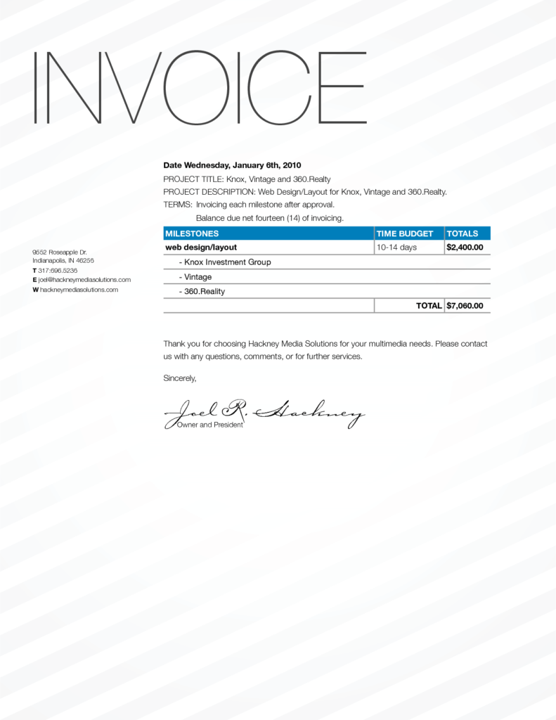 Invoice Template for Designers and Invoice Design Resume Templates