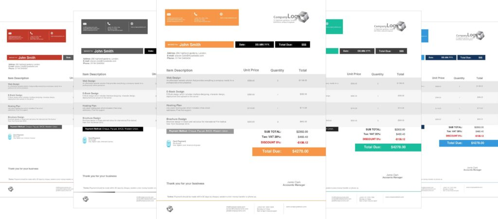 Invoice Template for Designers and Modern Invoice Templates Mac Firmsinjafo