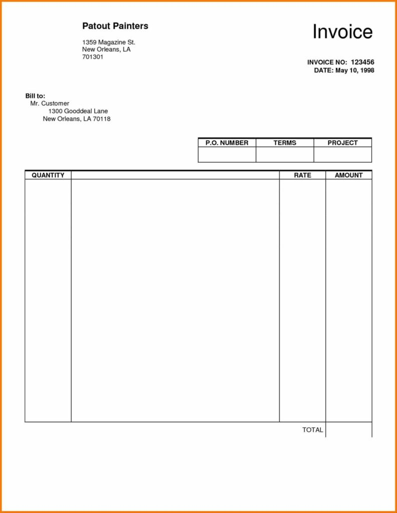 Invoice Template for Painters and Template Best Business Microsoft Invoice Sheet Template Word