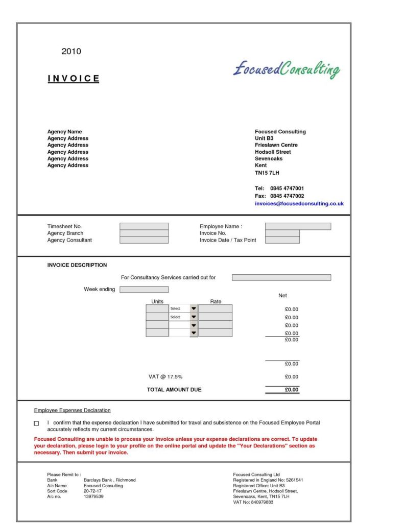 Invoice Template for Services Rendered and Consulting Services Invoice Template Invoice Template Ideas