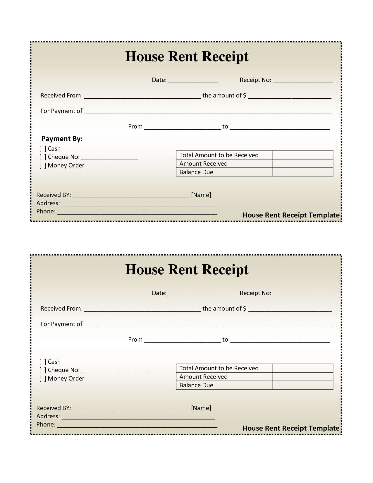 Invoice Template with Credit Card Payment Option and Free House Rental Invoice House Rent Receipt Template Doc
