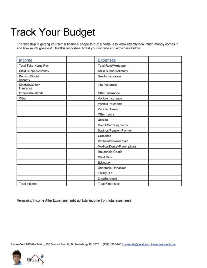 Keeping A Budget Worksheet and Use A Bud Worksheet to Prepare for Ing A Home