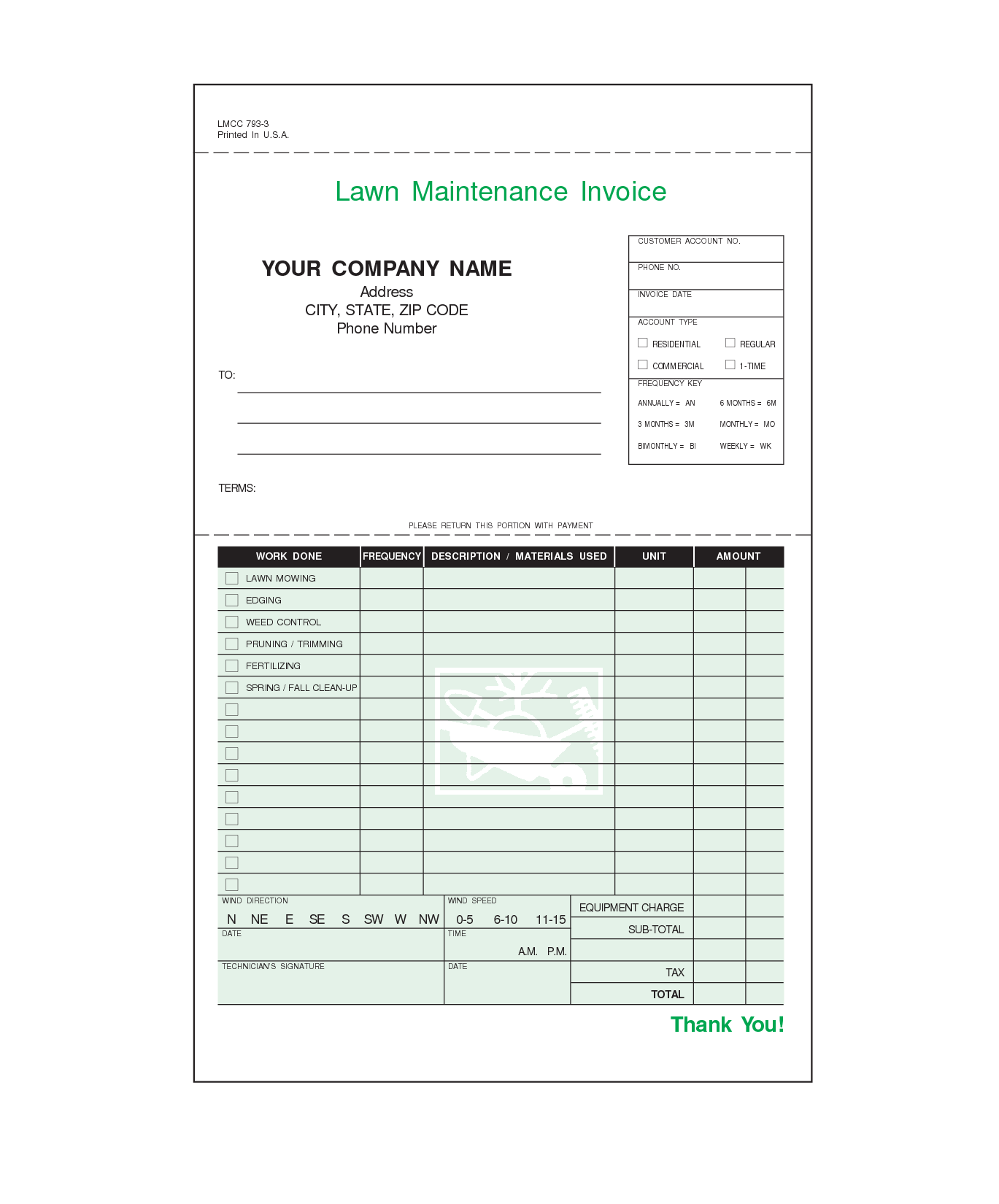 Lawn Mowing Invoice Template Free and Lawn Care Invoice Template Invoice Sample Template