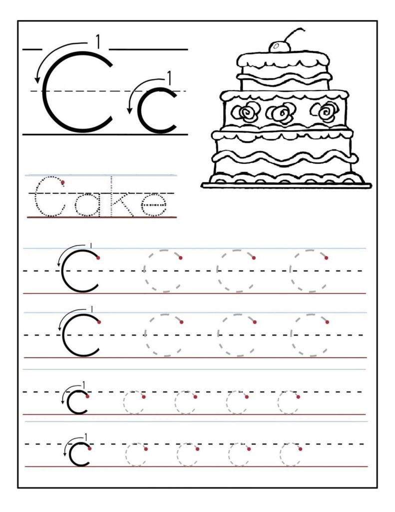 Learn to Write Kindergarten Worksheets and Trace the Letter C Worksheets Activity Shelter Alphabet and