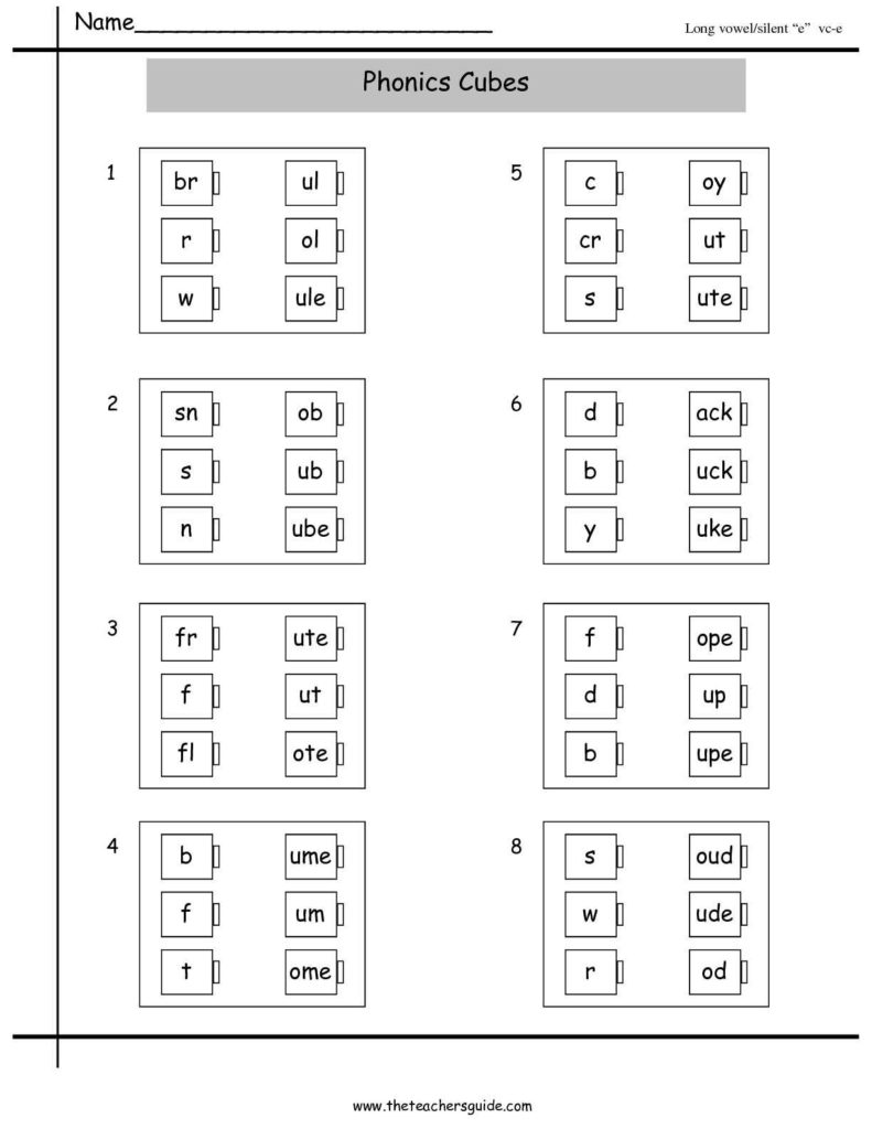 Learning to Read Worksheets Kindergarten and Vowel Worksheet