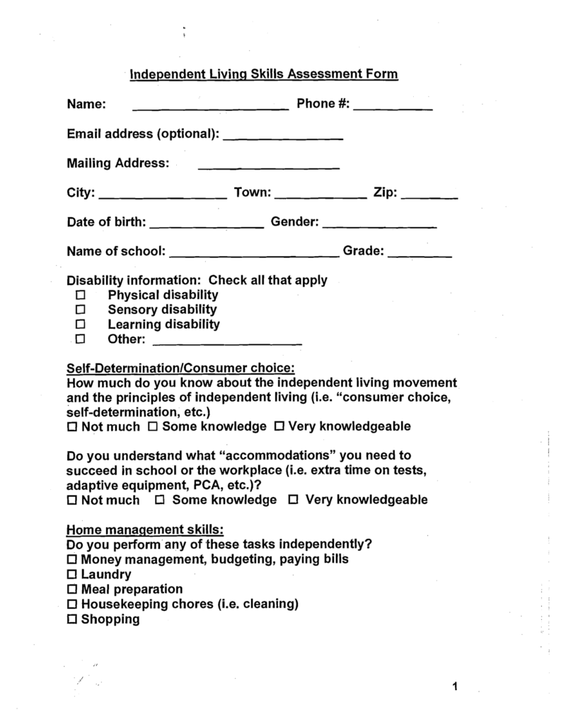 Life Skills Worksheets for Middle School Students and Ecollage