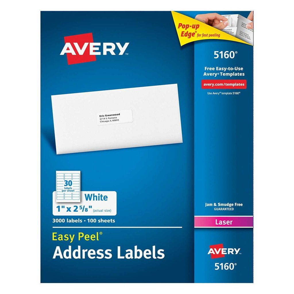 Mailing Label Templates 30 Per Sheet and Avery Easy Peel Address Labels for Laser Printer 1 X