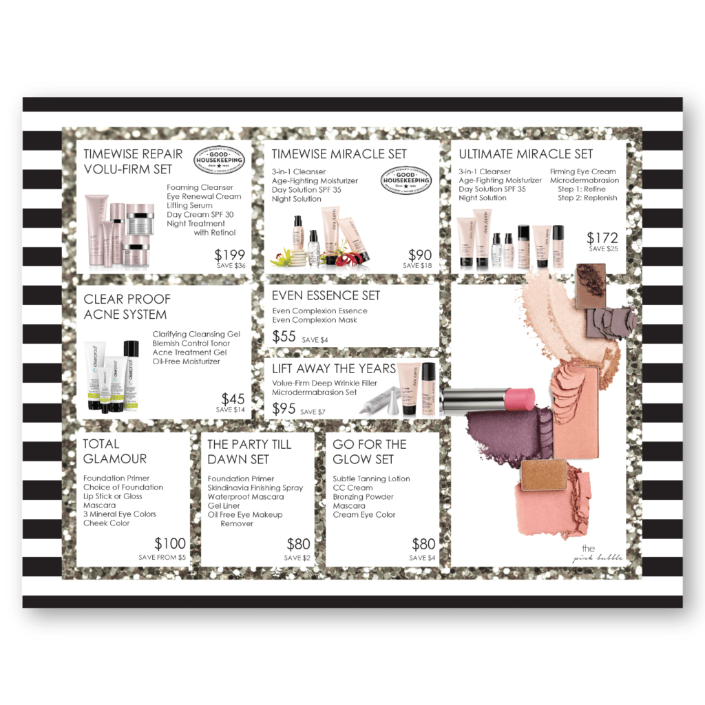 Makeup Inventory Spreadsheet and Mary Kay Skin Care Class Placemat Closing Sheet Set Sheet