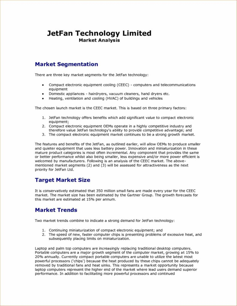 Marketing Reports Examples and Plan the Sample Market Analysis Template Essential Guide to