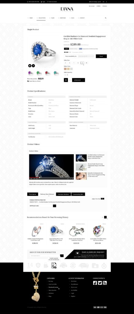 Masonry Estimate Template and Diana Creative Jewelry Psd Template by Diadea3007 themeforest