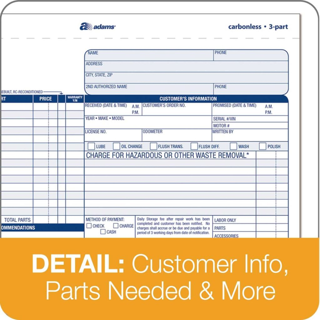 Mechanics Invoice Template and Adams Business form Rabitah