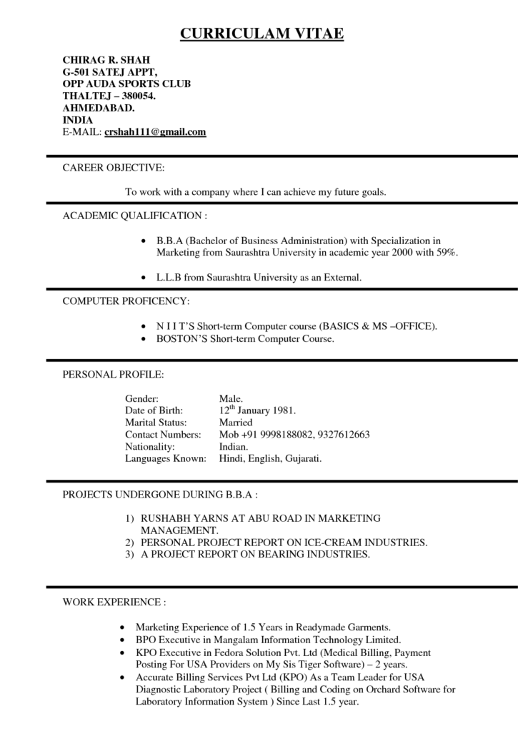 Medical Billing Resume Sample Free and Resume format for Usa Resume for Your Job Application