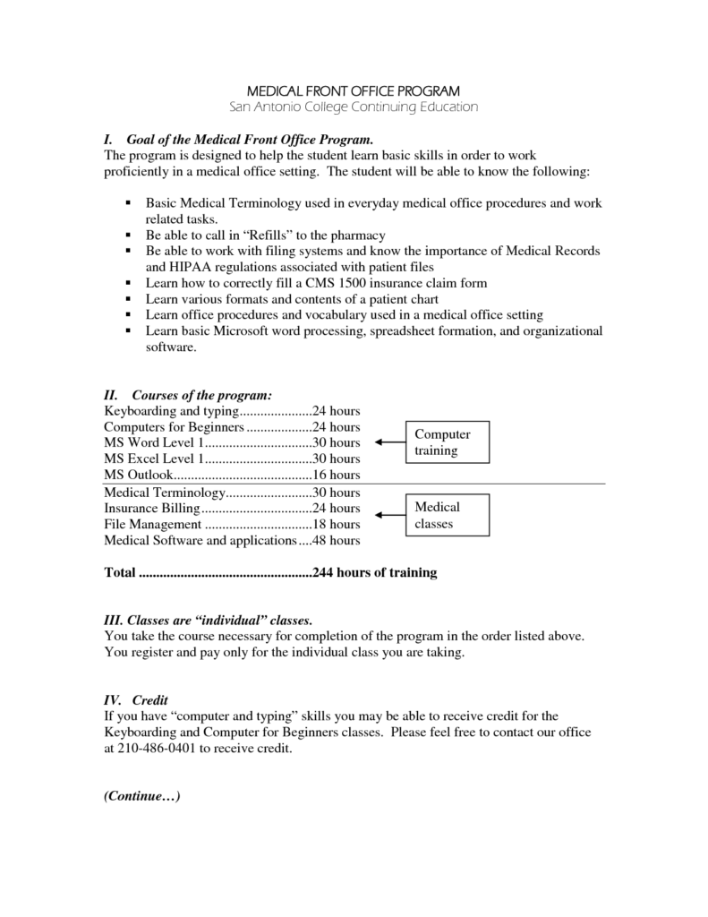 Medical Billing Resume Sample Free and Sample Resume for Secretary Receptionist Images Free Resume