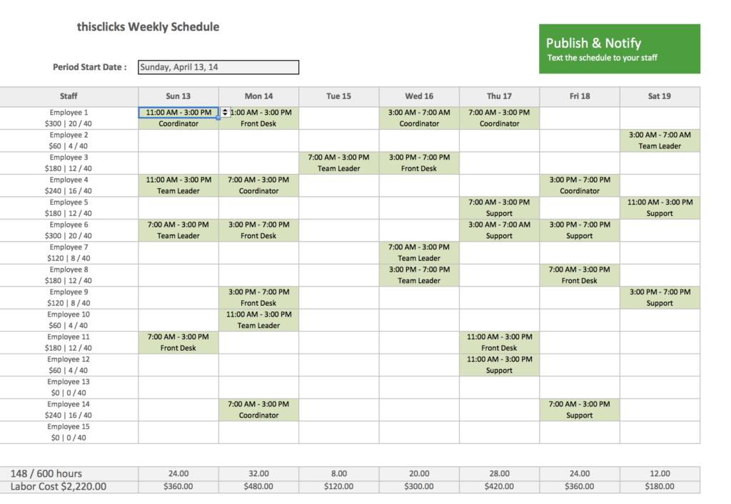 Monthly Employee Work Schedule Template Excel and 28 Work Schedule Templates Excel 7 Work Schedule Template Excel
