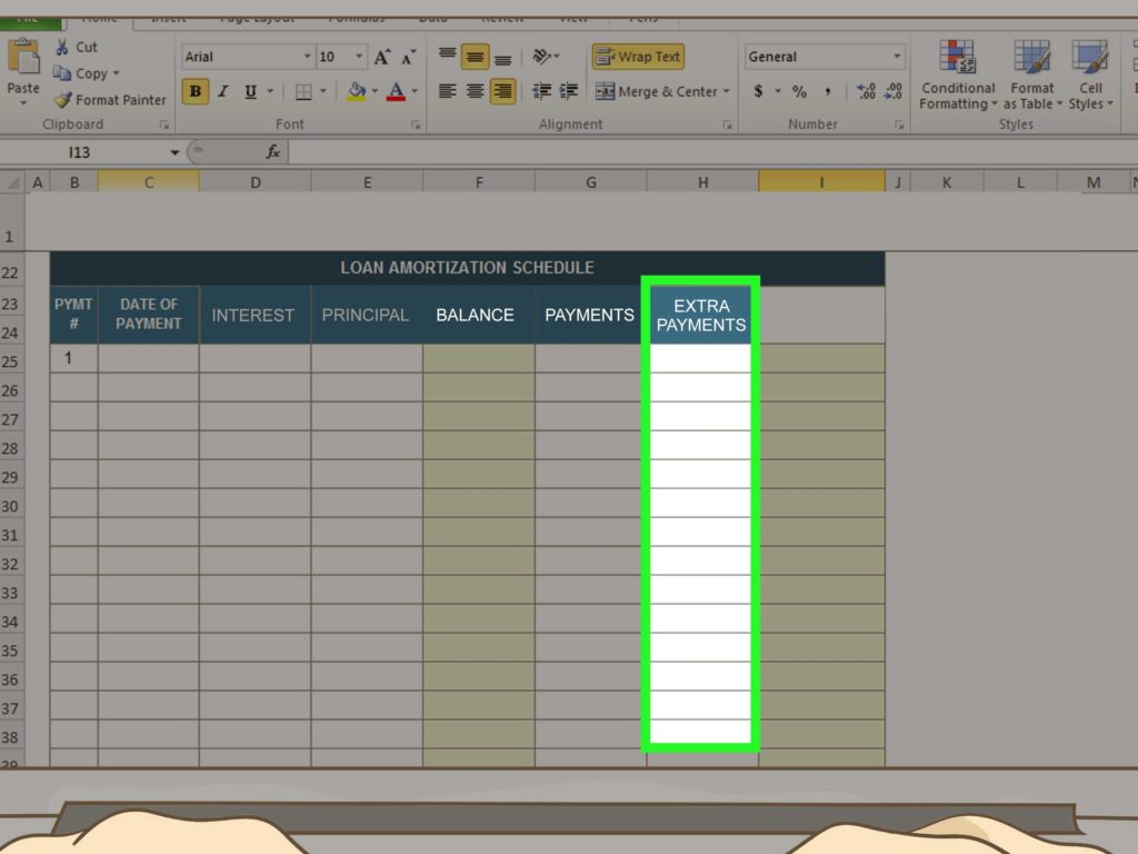 Mortgage Payment Table Spreadsheet and How to Amortize A Loan 15 Steps with Pictures Wikihow