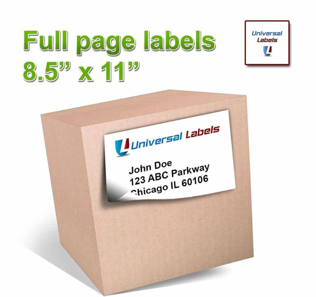 Mylar Template Sheets and 100 Full Page Shipping Labels Heavyweight Label for
