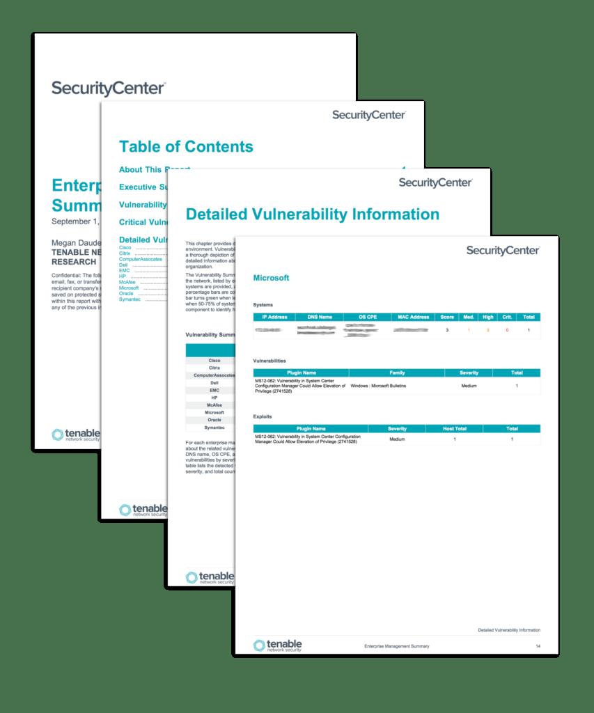 Network Vulnerability assessment Report Sample and Enterprise Management Summary Sc Report Template Tenableâ