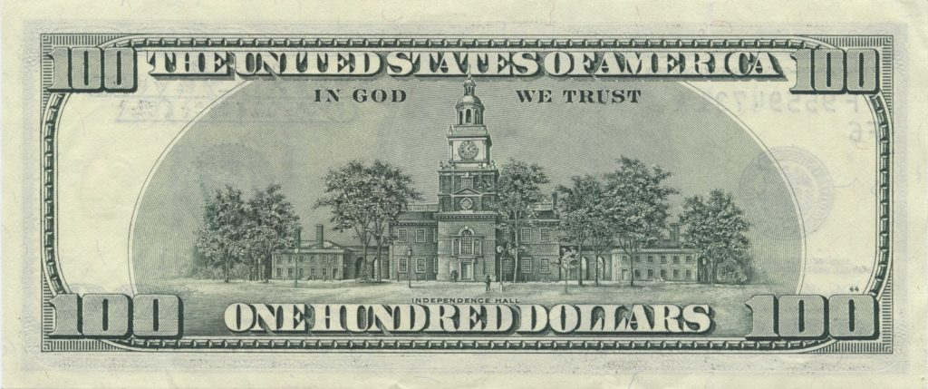 One Hundred Dollar Bill Template and File Us 100 Series 2006 Reverse Wikimedia Mons