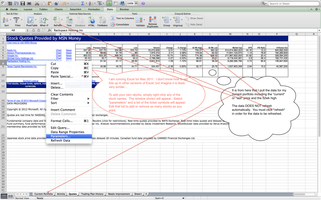 Options Trading Journal Spreadsheet Download and Trading Journal Template