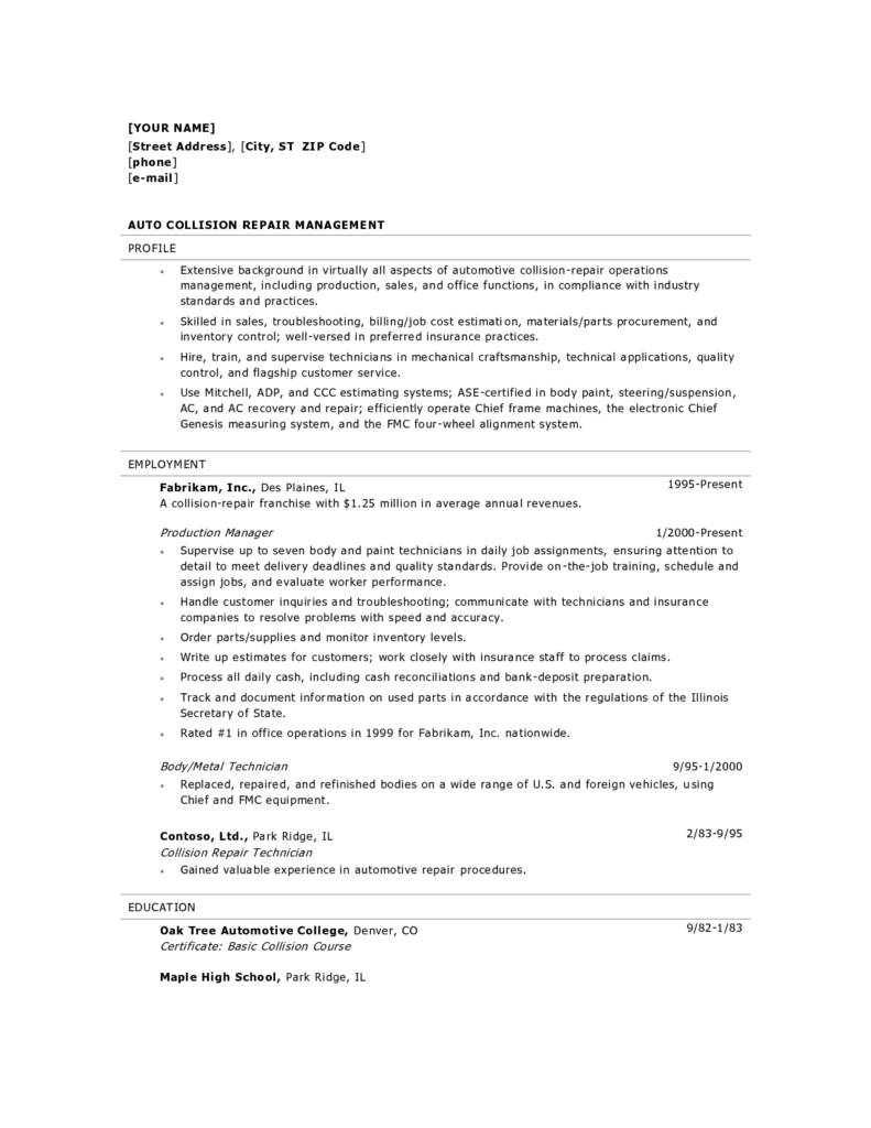 Painting Invoice Sample and Collision Estimator Cover Letter