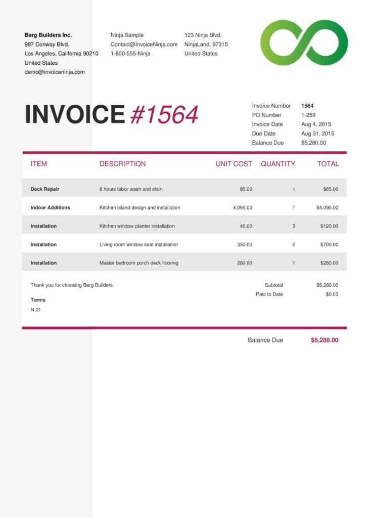 Painting Invoice Template and 100 Create An Invoice Template Invoice Receipt Template Free