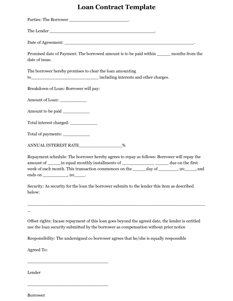 Personal Loan Statement Template and Simple Interest Loan Agreement Template Koco Yhinoha Simple