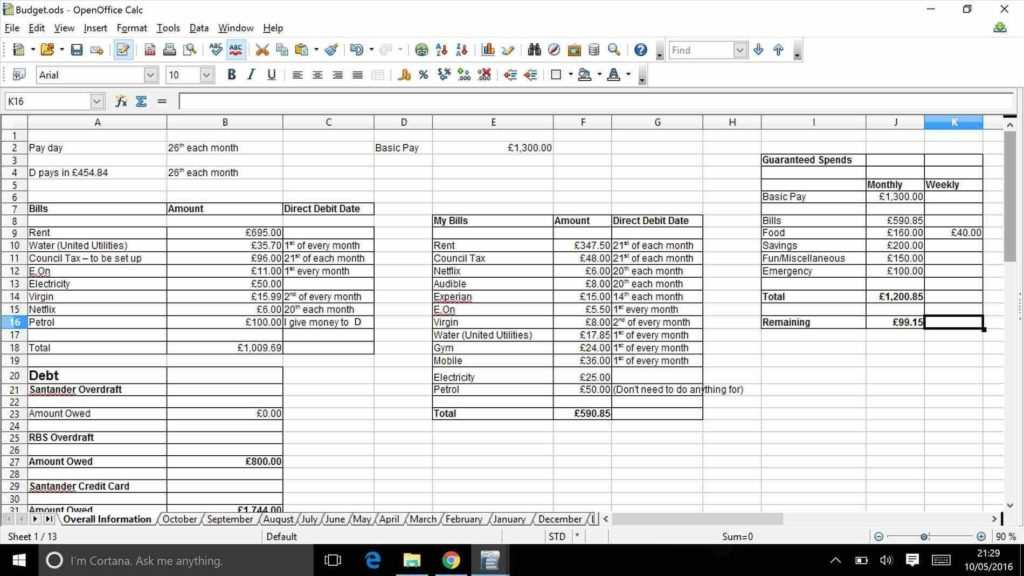 Petrol Bill Template and Marketing Bud Spreadsheet Bud Spreadsheet Haisume Monthly