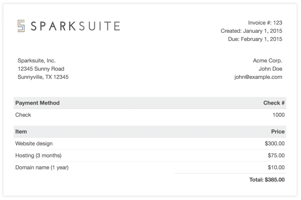 Plain Invoice Template and Github Sparksuite Simple Invoice Template A Modern Clean