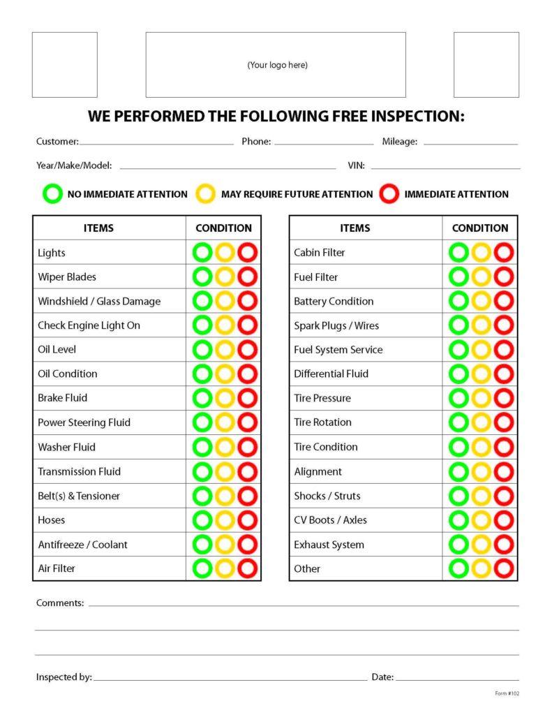 Preventive Maintenance Spreadsheet and Car Maintenance Checklist Spreadsheet