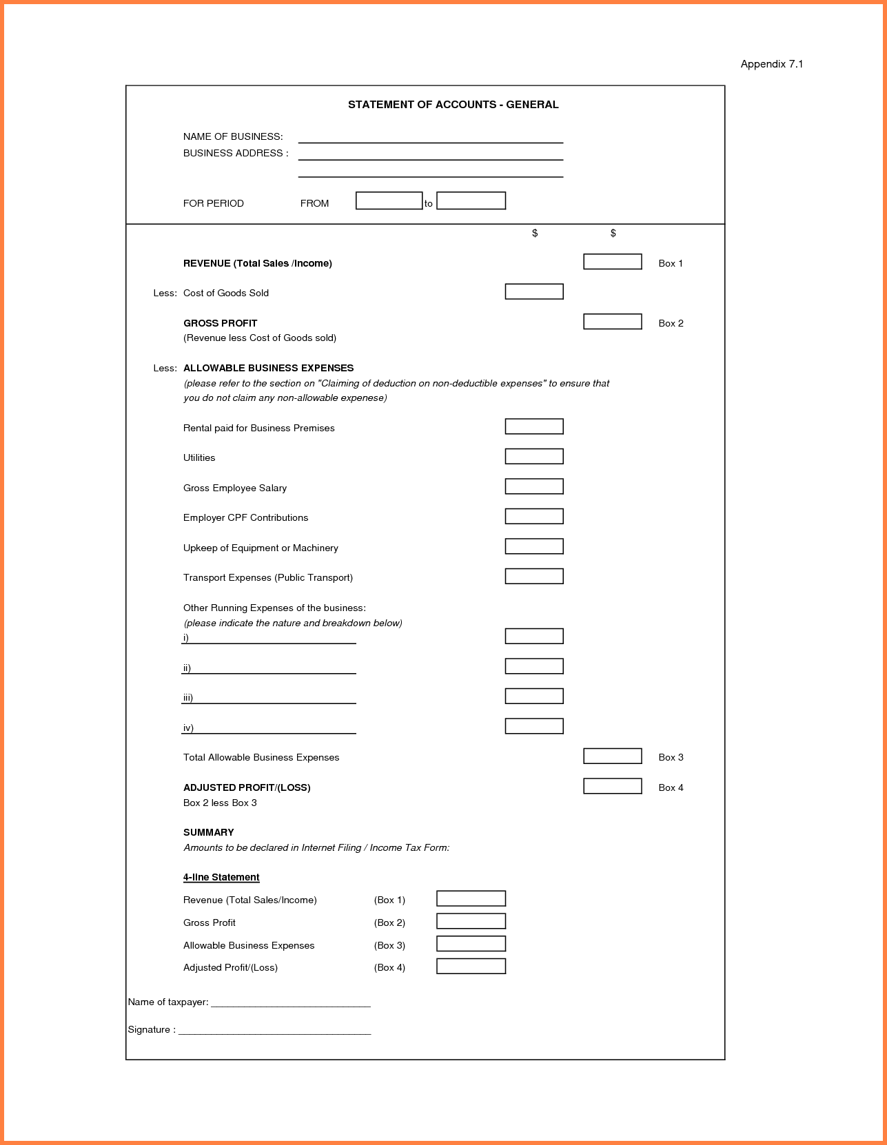Profit and Loss Statement Template for Self Employed and Profit and Loss Statement for Self Employedofit and Loss