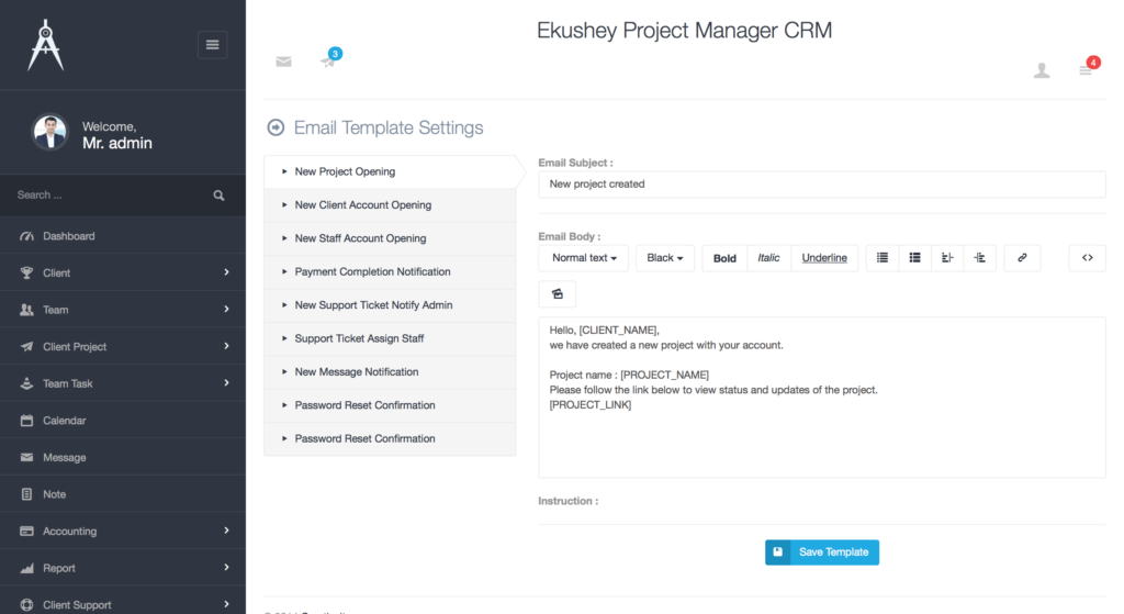 Project Manager Spreadsheet Templates and Ekushey Project Manager Crm by Creativeitem Codecanyon